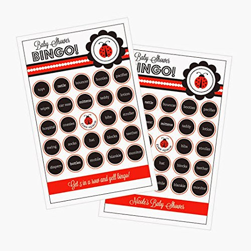 3 sets of 16 Ladybug Party Bingo by Eventblossom