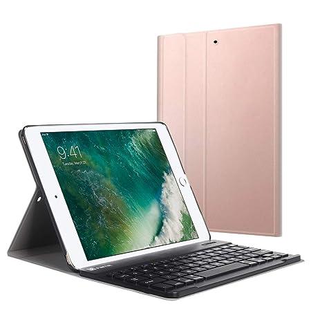 Fintie Bluetooth Tastatur Hülle für iPad 9.7 Zoll 2018 2017 / iPad Air 2 / iPad Air - Ultradünn leicht Ständer Keyboard Case