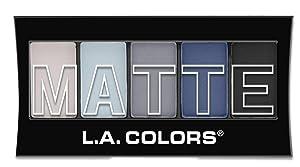 L.A. Colors 5 Color Matte Eyeshadow, Blue Denim, 0.08 Ounce