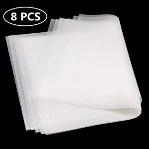 "Artviva Refrigerator Mats Shelf Liner 8 Pcs, Water/Oil proof Placemates for Drawer Cabinet Table (White,17.7""x11.8"")"