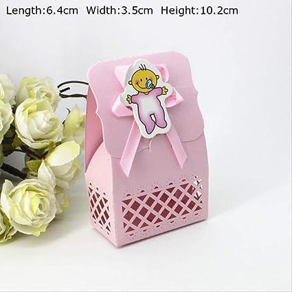 24 piezas Caja de regalo de Baby Shower Lovely Bear Pink Blue ...