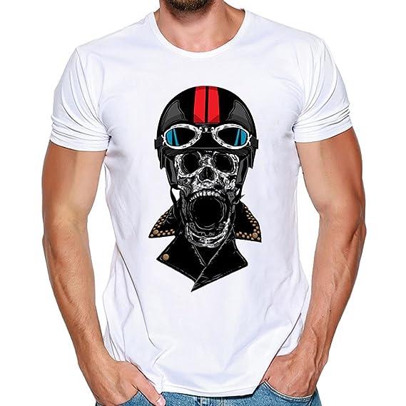 Yvelands Camisa de impresión de la Camiseta de la impresión de la Moda de los Hombres Camisa de la Camisa de Manga Corta Camiseta de la Blusa de Absolute ...