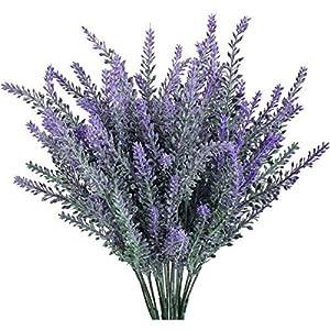 Artificial Flowers Lavender Bouquet in Purple Artificial Plant for Home Decor, Wedding,Garden,Patio Decoration DIY Bridle Lavender Flowers Arrangements 67