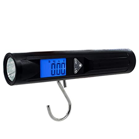 FTVOGUE Portable 50kg//10g LCD Digital Travel Hanging Weight Electronic Luggage Hook Scale