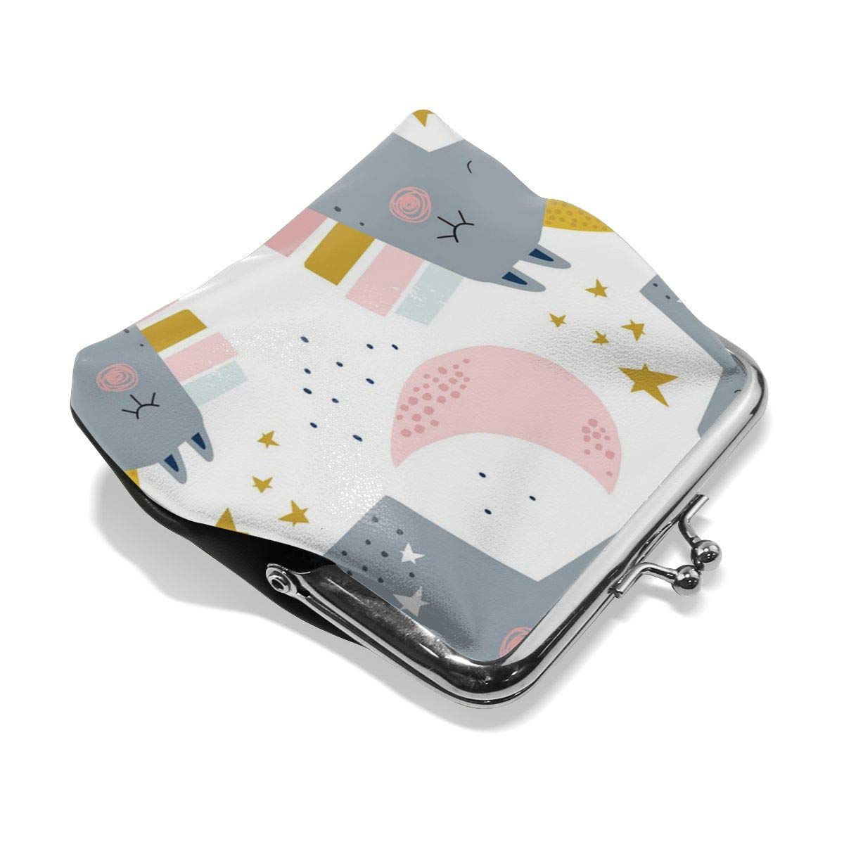 Architd Customized Cute Retro Coin Purse Girl Kiss And Buckle Change Purse Ladys HandbagColored Horse Head With A Corner Personality Metal Lock Purse