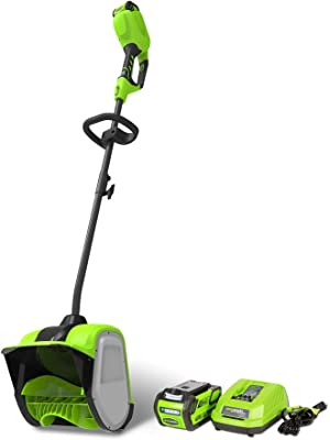 Greenworks 12-Inch 40V Cordless Snow Shovel, 4.0 AH Battery Included 2600702 (Renewed)