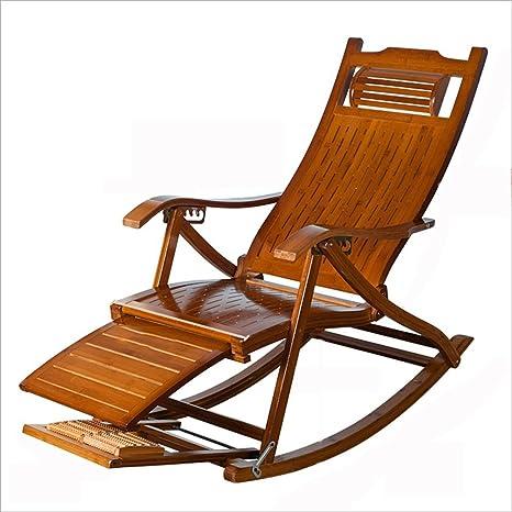 XIAOYAN Silla mecedora de madera sólida Silla plegable ...