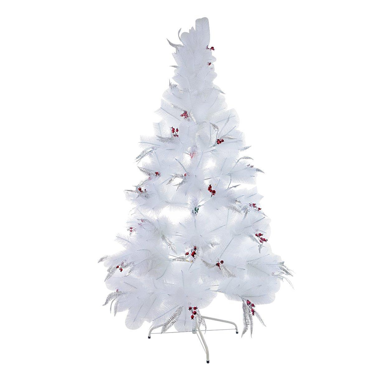 Saim Snow White Preminum Christmas Artificial Pine Tree with Solid Metal Legs 6Ft