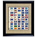 American Coin Treasures U.S. State Flag Stamp Sheet In 16x14 Wood Frame