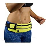 Dimok Running Belt Waist Pack - Water Resistant Runners Belt Fanny Pack for Hiking Fitness – Adjustable Running Pouch…
