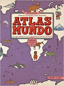 Book's Cover of Atlas del mundo. Edición Púrpura: ¡El atlas del mundo ahora es más grande! (Libros para los que aman los libros) (Español) Tapa dura – 4 noviembre 2020