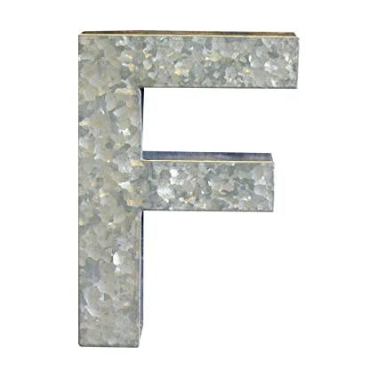 Amazon.com: Modelli Creations Alphabet Letter F Wall Decor, Zinc ...