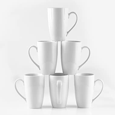 Amuse- Professional Barista Large Cozy Tall Mug for Coffee, Tea or Latte - Set of 6-16 oz