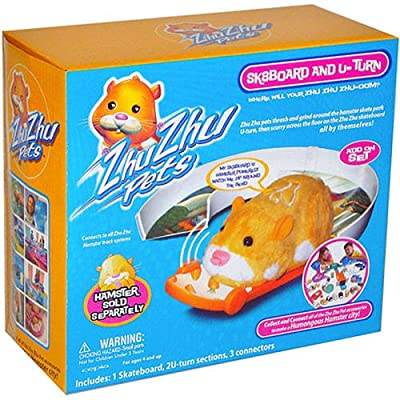 Zhu Zhu Pets Skateboard & U-Turn: Toys & Games