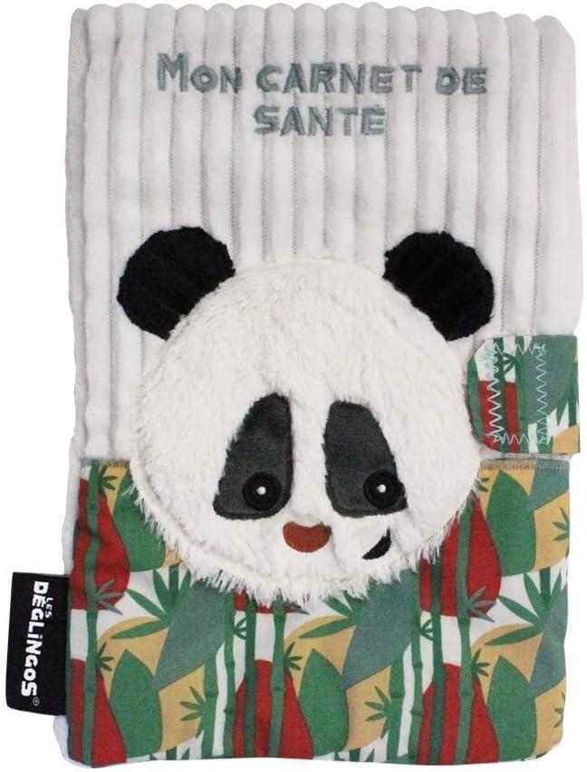 Peluche Regalo de nacimiento Divertido Funda para libro de salud Rototos Le Panda Beb/é y ni/ño Les DeGLINGOS Ultra suave