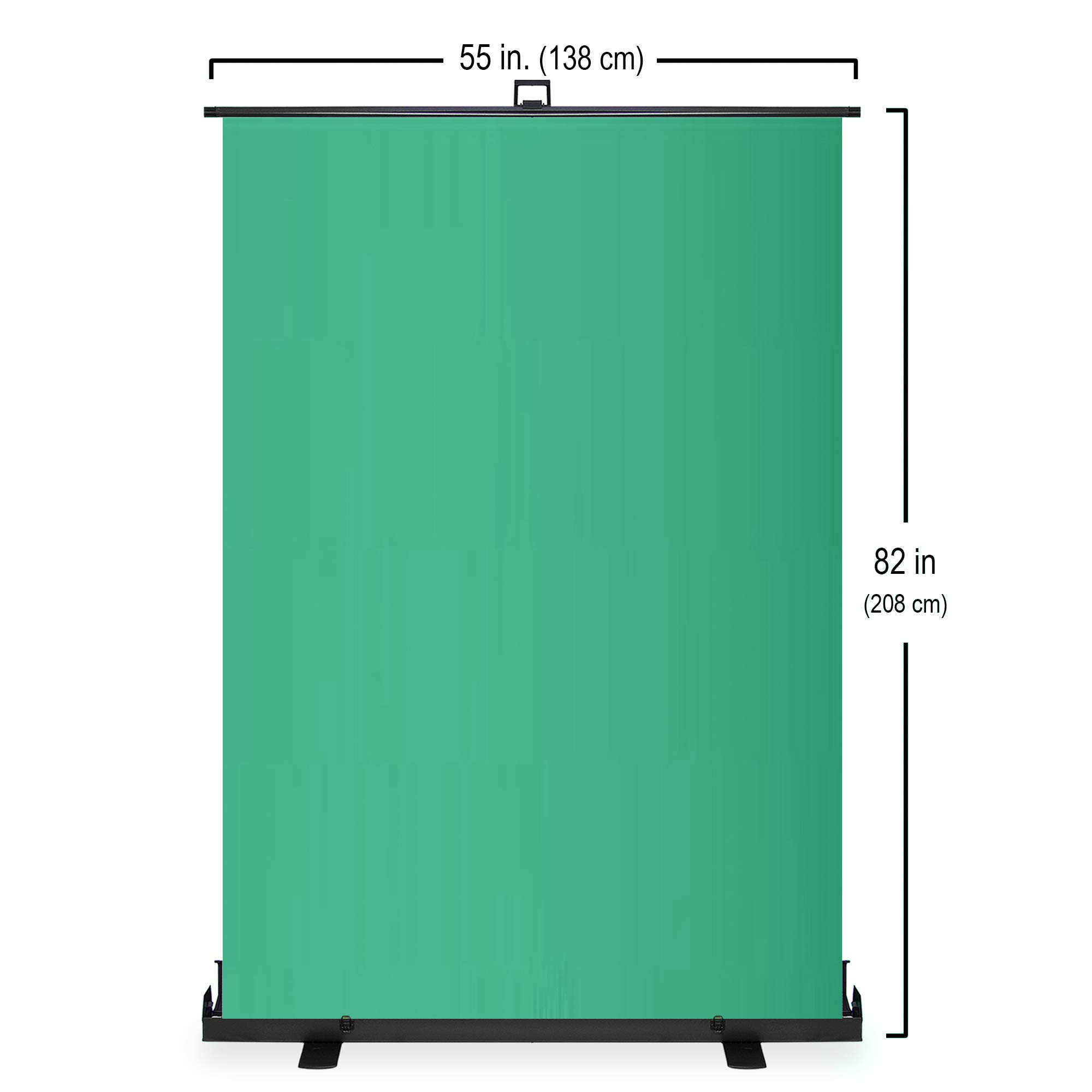 KHOMO GEAR Jumbo Size 55'' x 82'' Green Screen Collapsible Pull-Up Extra Large Streaming Portable Backdrop Setup with Auto-Locking Frame by KHOMO GEAR (Image #5)