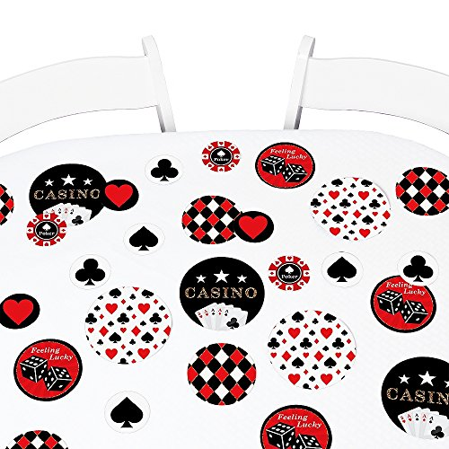 Big Dot of Happiness Las Vegas - Casino Party Giant Circle Confetti - Party Decorations - Large Confetti 27 Count -