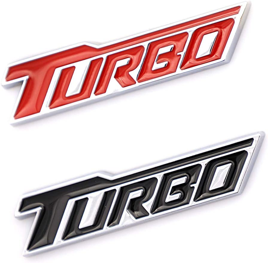 Red 2x TURBO Premium Car Fender Rear Trunk Embelm Decal Replacement For Chevrolet Malibu Car Styling Metal Badge Decoration
