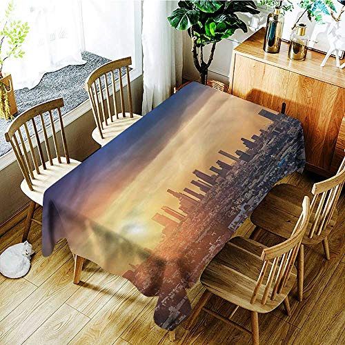 (familytaste City,Party Table Cloth Sunrise at Los Angeles 54