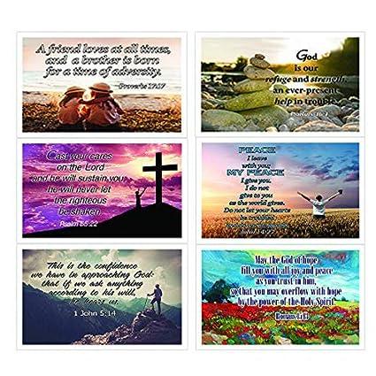 Christian Inspirational Popular Bible Verses Postcards Cards (30-Pack) -  Prayer Cards - War Room Decor