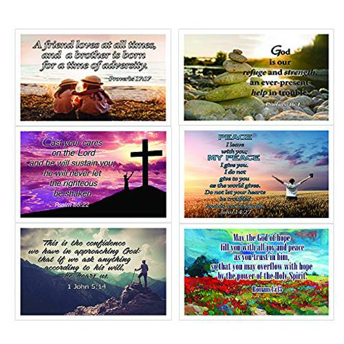 Prayer Card Postcards - Christian Inspirational Popular Bible Verses Postcards Cards (30-Pack) - Prayer Cards - War Room Decor