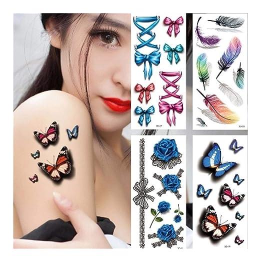 Tatuajes temporales SCH 2 Unids Moda Color Impermeable Etiqueta ...