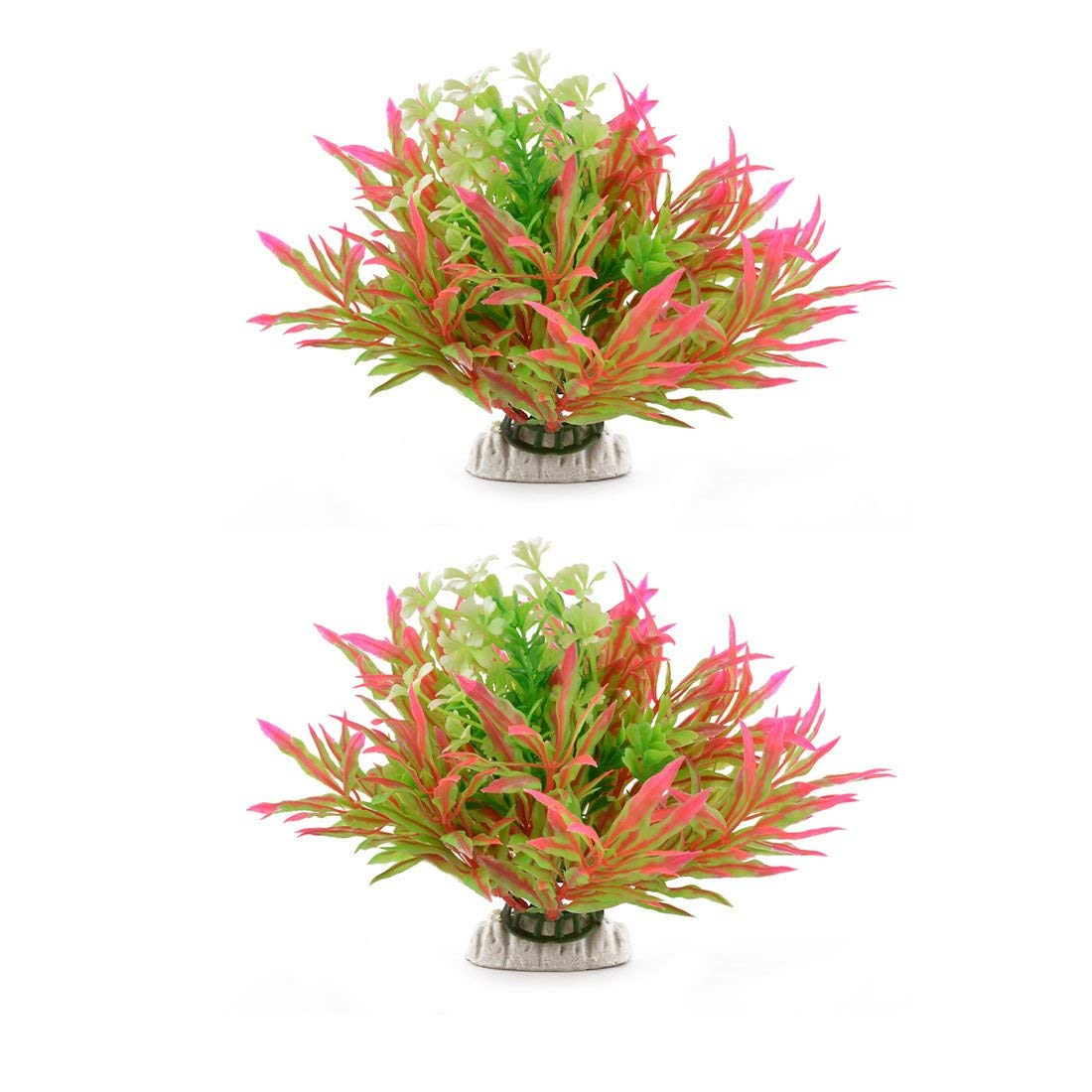 Aquarium Fish Tank Artificial Water Plant Grass Ornament bluee