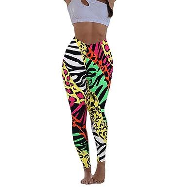 Pantalones de Yoga Estampados, Leggings Deporte Mujer Push Up ...