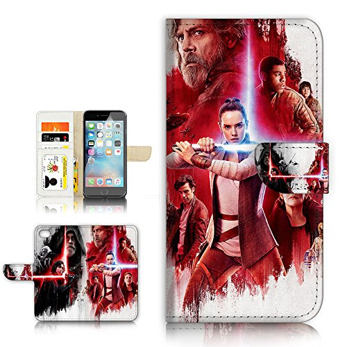 Del Rey Cover - (For iPhone 8 Plus / iPhone 7 Plus ) Flip Wallet Style Case Cover, Shock Protection Design with Screen Protector - B31020 Starwars Rey