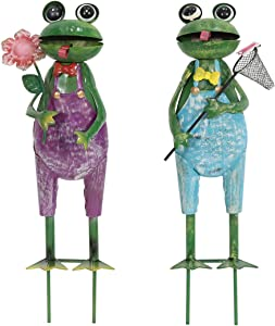 Liffy Gift Fireman Frog 2 Packs Suit is Suitable for Garden Decoration and Garden Decoration