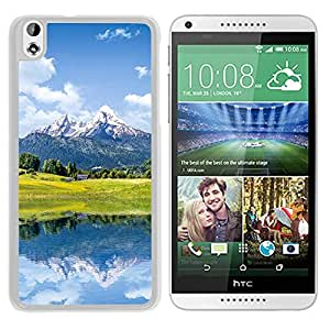 New Beautiful Custom Designed Cover Case For HTC Desire 816 With Nature Mountain Lake Reflection (2) Phone Case