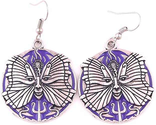 FAIRY ELVEN Phoenix Rise Earring Majestic Sun Flamingo Amulet Hanging Jewelry