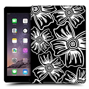 Head Case Designs Carnation BNW Floral Protective Snap-on Hard Back Case Cover for Apple iPad Air 2