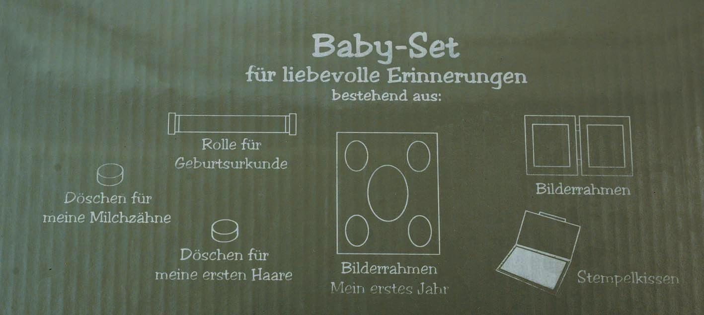 Baby-Set silber f/ür liebevolle Erinnerung