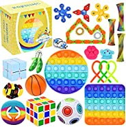 25 Pack Sensory Toys Set, Relieves Stress and Anxiety Fidget Toy for Children Adults, Special Toys Assortment