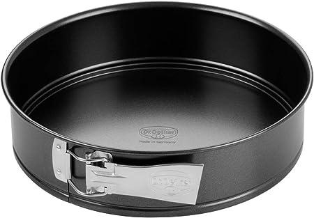 Zenker Springform Ø 28 cm, Backform mit Antihaftbeschichtung, runde Kuchenform mit Flachboden (Farbe: schwarz), Menge: 1 Stück