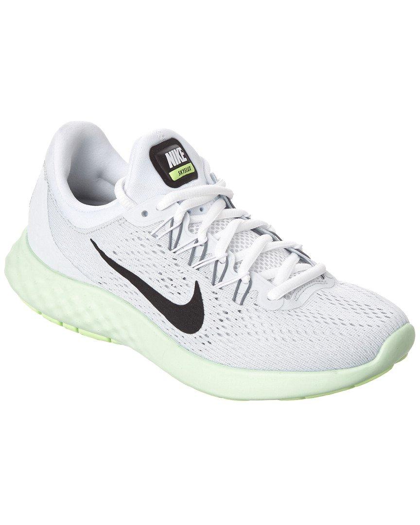 NIKE Womens Lunar Skyelux Round Toe Lace-up Running Shoes B01M9F4CNC 8.5 B(M) US|Pure Platinum/Black-Fresh Mint