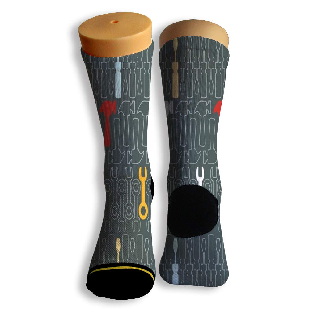 Basketball Soccer Baseball Socks by Potooy Funny Tools Design 3D Print Cushion Athletic Crew Socks for Men Women