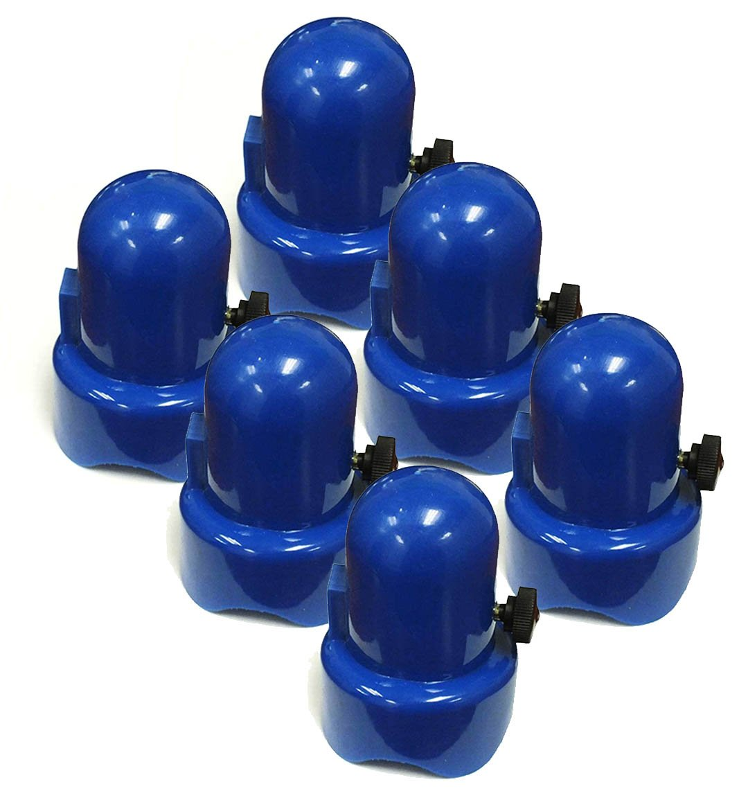 SkyBound 1.5'' Diameter Blue Trampoline Enclosure Pole Caps (pack of 6) by Skybound