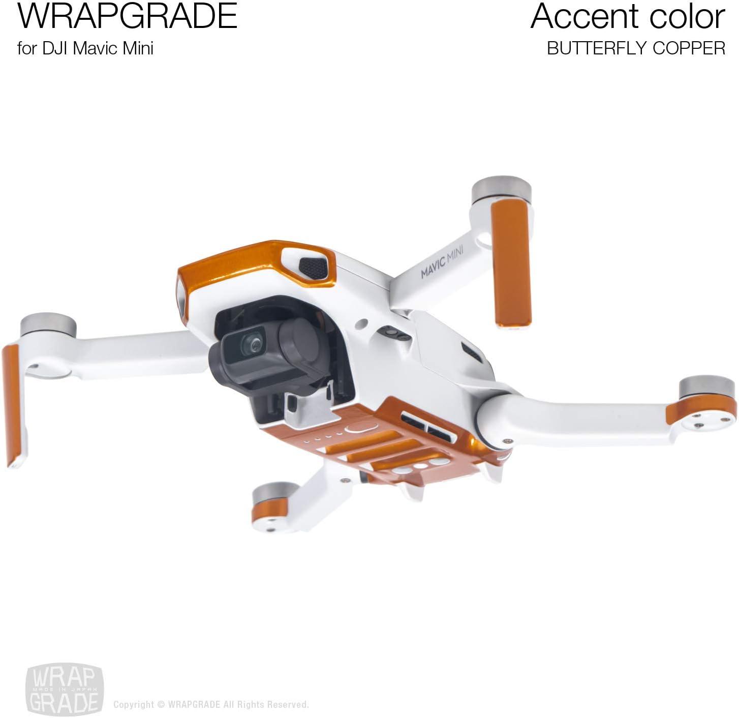 WRAPGRADEl Color Acento Skin Compatible con dji Mavic Mini (Butterfly Copper)