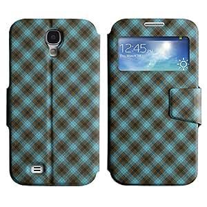 LEOCASE patrón de cuadros Funda Carcasa Cuero Tapa Case Para Samsung Galaxy S4 I9500 No.1007325