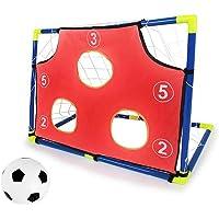 Bobody - Red de Entrenamiento de fútbol para niños, Desmontable, Juego de práctica de Puerta de fútbol con Solapa para Mejorar la precisión de Lanzamiento de QB
