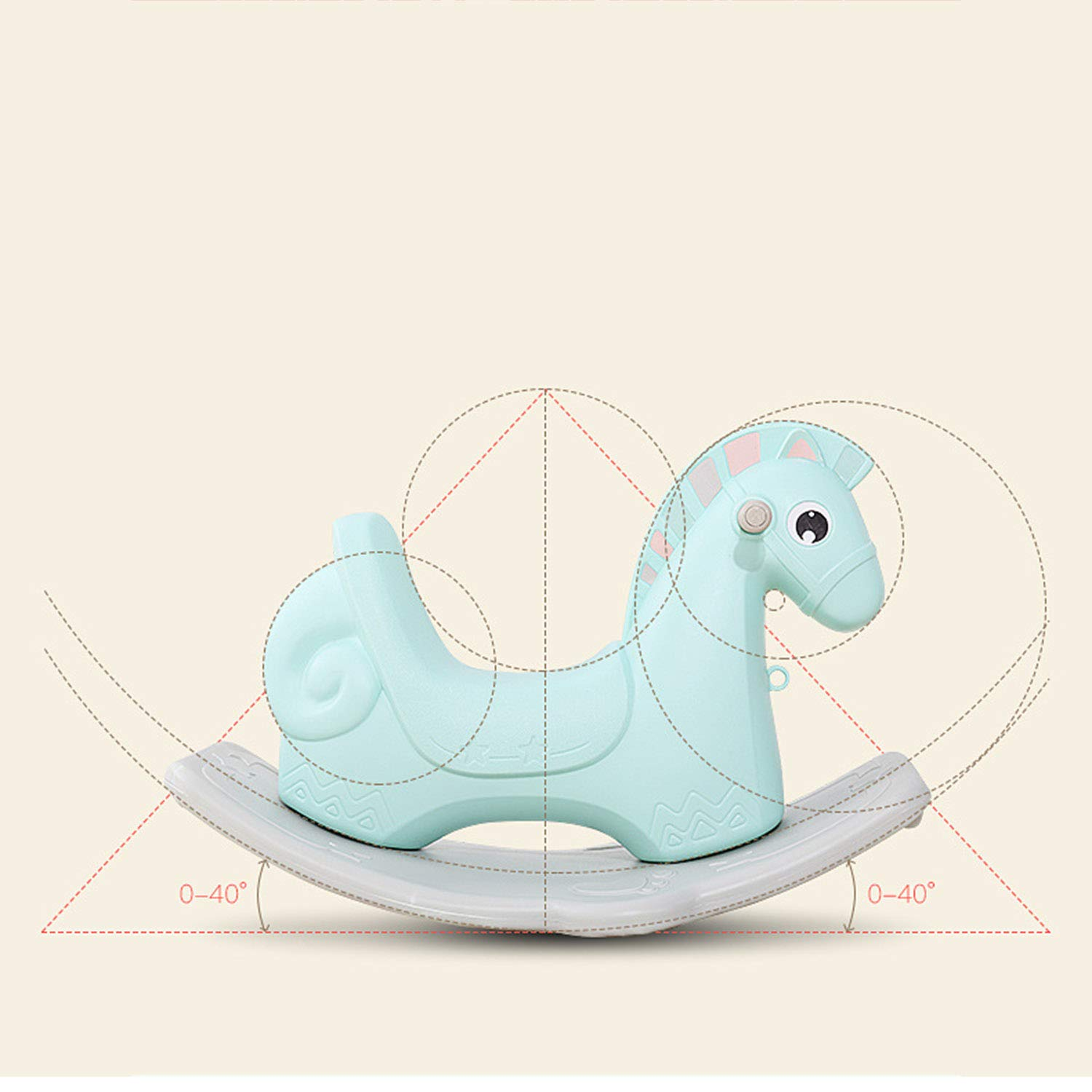 AIBAB Baby Rocking Horse Tumbler Baby Comfort Chair Thick Plastic Multifunction Nursery Boy Girl Toy Gift by AIBAB (Image #5)