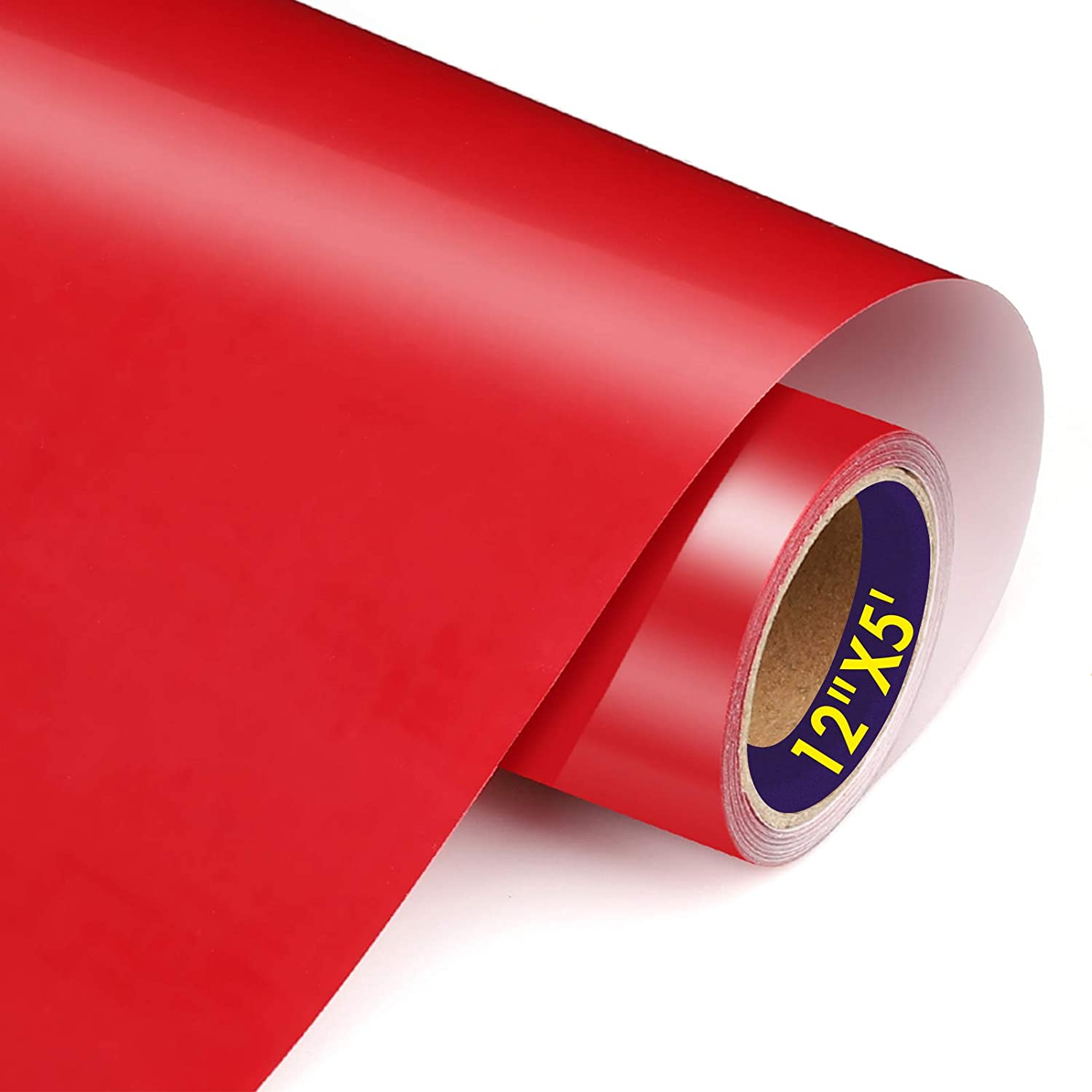 TransWonder Premium Red Heat Transfer Vinyl HTV Viny 12in.x5ft, Iron on Vinyl for T Shirts Christmas HTV (Deep Red): Arts, Crafts & Sewing