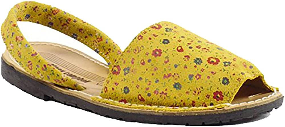 Yellow Floral Spain 36 Jeffrey Campbell Ibiza Slingback Sandals US 6