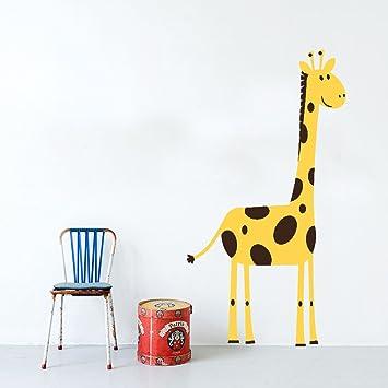 Giraffe Wandtattoo Kinderzimmer Dekorative Polyvinyl Aufkleber Easy ...