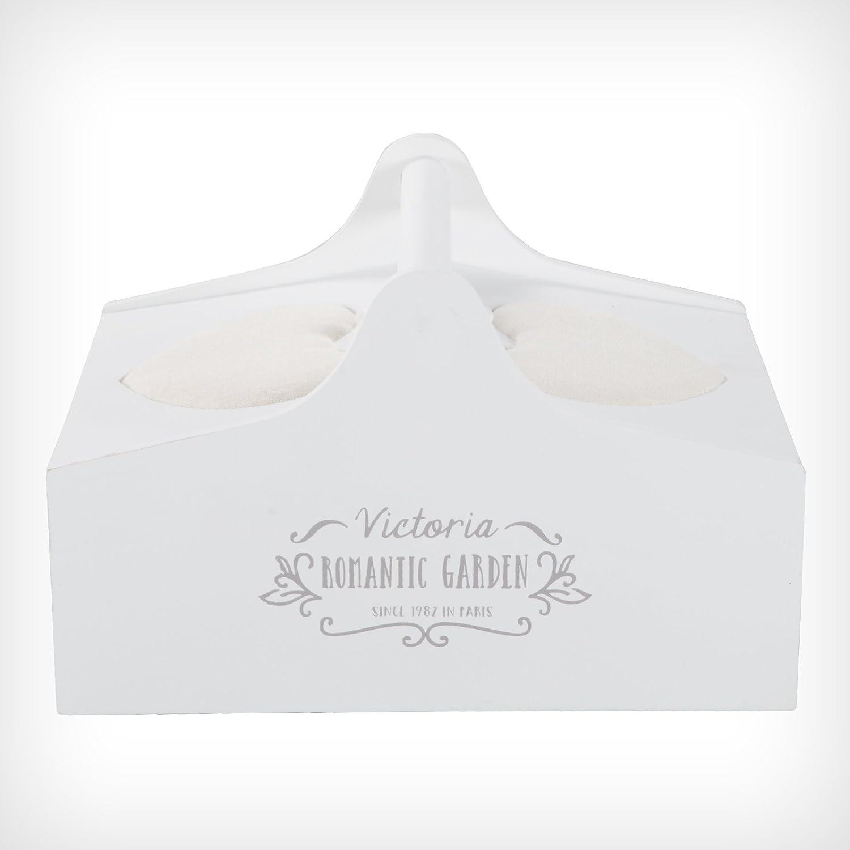 DRULINE Nähkästchen Nähkasten Nähbox Nähkorb Weiß Shabby Chic ...