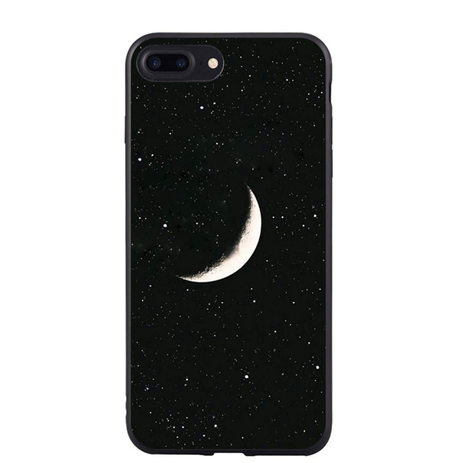 Black Girl Moon Stars Space Astronaut Tpu Soft Silicone Phone Cover Case For Iphone 5 5s Se 6 6s Plus 7 7plus 8 8plus X 10 Cover Half-wrapped Case