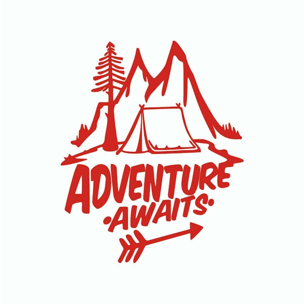 Finance Plan Unique Adventure Awaits Reflective Sticker Pine Tree Mountain Decal Car Decor