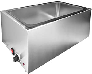 Zica ZCK165A Commercial Stainless Steel Electrical Food Warmer Bain Marie Buffet Food Warmer Steam Table for Catering and Restaurants